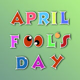 April fools day illustration over green background Stock Photography