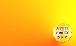 April fools day illustration over yellow background with text space Royalty Free Stock Photo
