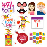 April Fools Day Illustrations Royalty Free Stock Photo