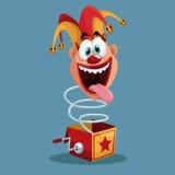 April fools day jester box surprise Stock Photo