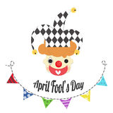 April fools day with joker head Royalty Free Stock Photos