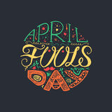 April Fools Day Lettering Photos stock