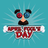 April fools day lettering face funny Royalty Free Stock Photo