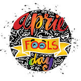 April Fools Day. Lettering illustration Royalty Free Stock Photos