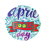 April Fools Day. Lettering illustration Stock Image