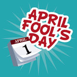 April fools day lettering party Stock Image