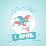 1 April Fools Day linéaire Images stock