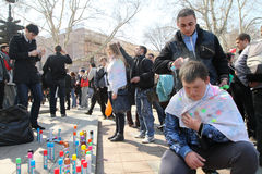 April Fools' Day in Odessa, Ukraine. Royalty Free Stock Photo
