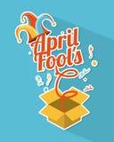 April fools day. Over blue background vector illustration Vector Illustration