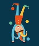 April fools day. Over blue background vector illustration Royalty Free Illustration