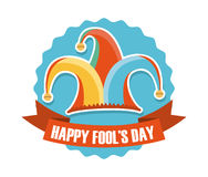 April fools day. Over white background vector illustration Stock Photo