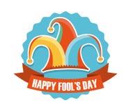 April fools day. Over white background vector illustration Vector Illustration