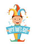 April fools day. Over white background vector illustration Stock Photos