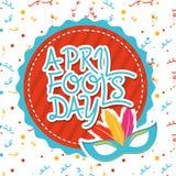 April fools day. Over white background vector illustration Stock Illustration
