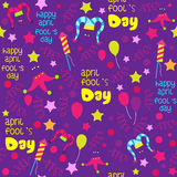 April Fools day pattern design. Royalty Free Stock Images