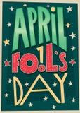 1 April Fools Day poster Stock Photos