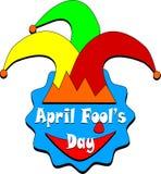 April Fools Day, rosso, giallo, cappello verde Fotografie Stock