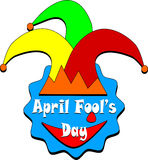 April Fools Day, rouge, jaune, chapeau vert Photos stock