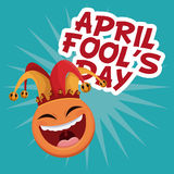 April fools day smile emoticon Royalty Free Stock Images