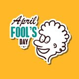 April Fools Day Sticker. April fools day. Funny sticker for 1st April. Vector illustration stock illustration