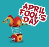 April fools day stylish text Stock Photos