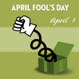 April fools day surprise box Royalty Free Stock Image