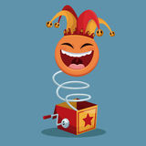 April fools day surprise box emoticon Royalty Free Stock Photography