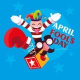 April fools day surprise box. Vector illustration design royalty free illustration