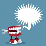 April fools day teeth prank bubble speech. Illustration eps 10 Stock Photos