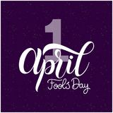 April Fools Day text. Colorful lettering. Hand lettering greeting card Royalty Free Illustration