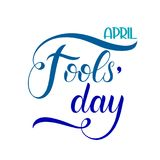 April Fools Day text. Colorful lettering. Hand lettering greeting card Stock Photos