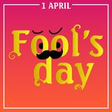 April Fools Day text and EPS 10 vector illustration for greeting card, ad, promotion, poster, flier, blog, article, marketing, sig. Nage, email stock illustration