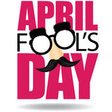 April Fools Day text and funny glasses EPS 10 vector Royalty Free Stock Photography