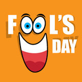 April Fools Day. Vector illustration Celebrating laughter Day inscription background Royalty Free Stock Images