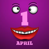 1 april Fools Day Vector illustration  eps 10. 1 april Fools Day Vector illustration  eps10 Stock Images