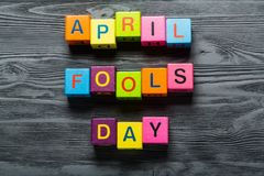 April. Fools fool day jokes  popular Royalty Free Stock Photography