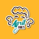 April Fools Man. April fools. Funny sticker for 1st April. Vector illustration Royalty Free Illustration