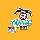 April Fools Sticker. April fools. Funny sticker for 1st April. Vector illustration Stock Illustration