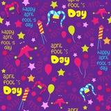 April Fools-het ontwerp van het dagpatroon Royalty-vrije Stock Afbeeldingen