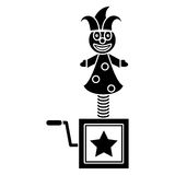 April fools jack in the box pictogram Royalty Free Stock Image