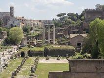 21 april 2018, Forum Romanum, Fori romani, ancient site of antiq. Ue city of Rome, in Rome near Palatino hill Stock Photos
