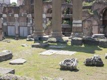 21 april 2018, Forum Romanum, Fori romani, ancient site of antiq. Ue city of Rome, in Rome near Palatino hill Stock Images