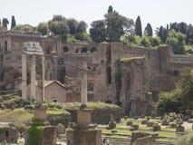 24 april 2018, Forum Romanum, Fori romani, ancient site of antiq. Ue city of Rome, in Rome near Palatino hill Stock Photography