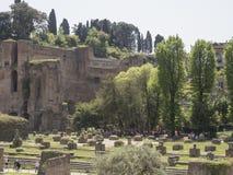 24 april 2018, Forum Romanum, Fori romani, ancient site of antiq. Ue city of Rome, in Rome near Palatino hill Stock Images