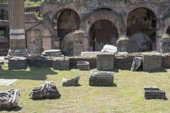 21 april 2018, Forum Romanum, Fori romani, ancient site of antiq. Ue city of Rome, in Rome near Palatino hill Royalty Free Stock Photo