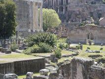 21 april 2018, Forum Romanum, Fori romani, ancient site of antiq. Ue city of Rome, in Rome near Palatino hill Royalty Free Stock Photos