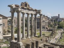 21 april 2018, Forum Romanum, Fori romani,. Ancient site of antique city of Rome, in Rome near Palatino hill Stock Images