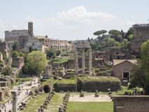 21 april 2018, Forum Romanum, Fori romani,. Ancient site of antique city of Rome, in Rome near Palatino hill Royalty Free Stock Photography