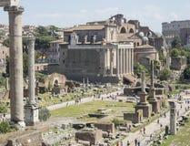 21 april 2018, Forum Romanum, Fori romani,. Ancient site of antique city of Rome, in Rome near Palatino hill Stock Photos