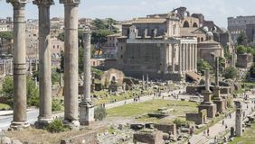 21 april 2018, Forum Romanum, Fori-romani, oude plaats van antiq stock foto's